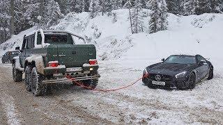 My AMG GT R is Towed Out by the G63 6x6 Again! | VLOG