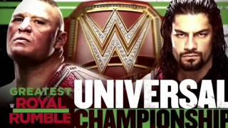 WWE Greatest Royal Rumble Brock Lesnar vs Roman Reigns Official Match Card