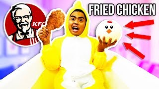 GIANT FRIED CHICKEN BATH BOMB BATH CHALLENGE!