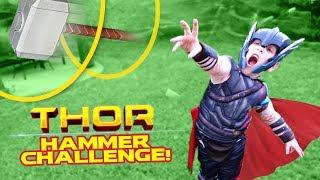 Thor Ragnarok Movie Gear Test & Hammer Toss Challenge for KIDS by KIDCITY