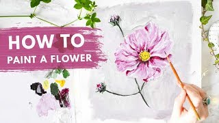 How to PAINT ANY FLOWER | Drawing, Layers & Tones