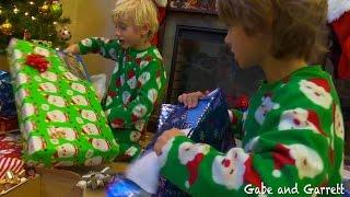 Christmas Morning 2014 - Gabe and Garrett Opening Presents!