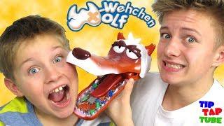 W-Wehchen Wolf 😜 Böser WOLF - Zahnarzt CHALLENGE 🤕 TipTapTube😁Familienkanal 👨👩👦👦