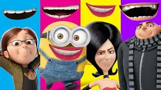 Despicable Me 3 Minions Wrong Mouth Funny Gru Margo Scarlet Finger Family Nursery Song Kids Toy