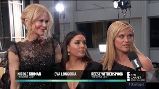 Nicole Kidman, Eva Longoria and Reese Witherspoon at Red Carpet Golden Globes 2018