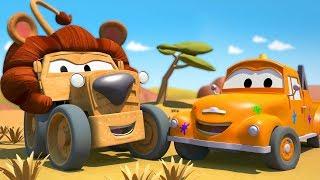 Die Lackierwerkstatt von Tom dem Abschleppwagen: Ben ist der Löwe / Lastwagen Cartoons für Kinder