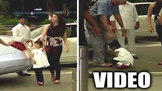 Aaradhya Bachchan Touches Grandfather