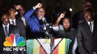 Zimbabwe's Incoming President Emmerson Mnangagwa Addresses Supporters   NBC News