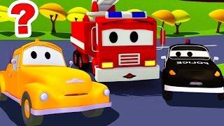 Der Streifenwagen : Tom der Abschleppwagen ist verschwunden  in Autopolis | Autos und Lastwagen