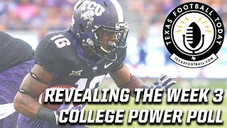 Revealing the Week 3 College Football Power Poll