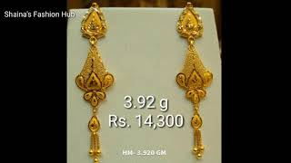Latest Light Weight Gold Earrings Best 20 Designs Collection