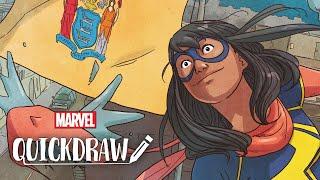 Artist Ian Herring colors Ms. Marvel – Marvel Quickdraw