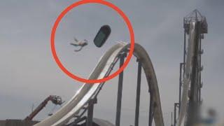 kid gets hurt on fast water slide..