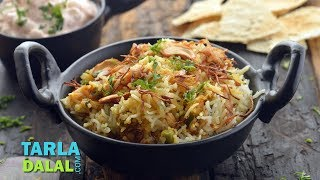 Vegetable Biryani, Recipe in Hindi (वेजिटेबल बिरयानी) by Tarla Dalal