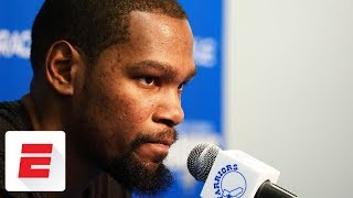 Kevin Durant out at least two weeks with rib cartilege fracture | ESPN