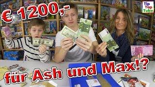 Zuschauer schenkt Ash und Max € 1200,00 !? TipTapTube