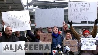 Protesters rally against Trump