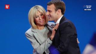 Unusual love story between French presidential front runner Macron and his wife