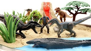 DIY VOLCANO ERUPTION. Jurassic World2 Fallen Kingdom Dinosaurs - Indoraptor VS Blue Toys For Kids