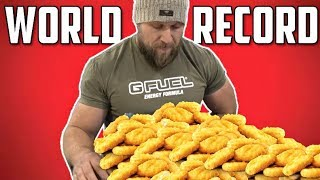 Most Chicken Nuggets Eaten in 3 Minutes (NEW World Record)