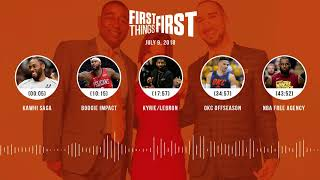 First Things First audio podcast(7.9.18) Cris Carter, Nick Wright, Jenna Wolfe   FIRST THINGS FIRST
