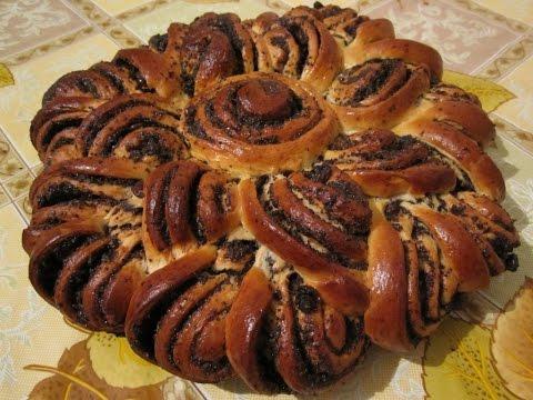 Пирог бабушкина салфетка с маком рецепт