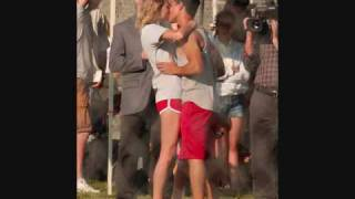 Taylor Swift and Taylor Lautner on the set of Valentines Day