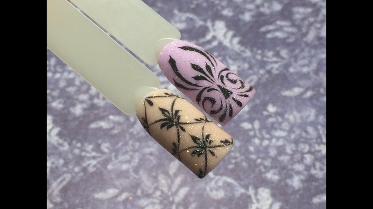 Дизайн ногтей вензеля или завитки youtube