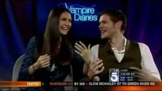 Nina Dobrev & Joseph Morgan  on KTLA
