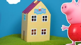 Peppa Pig Wutz deutsch: Playhouse für Peppa Wutz Sammlung 2017 | Peppa Pig Wutz Unboxing Episoden