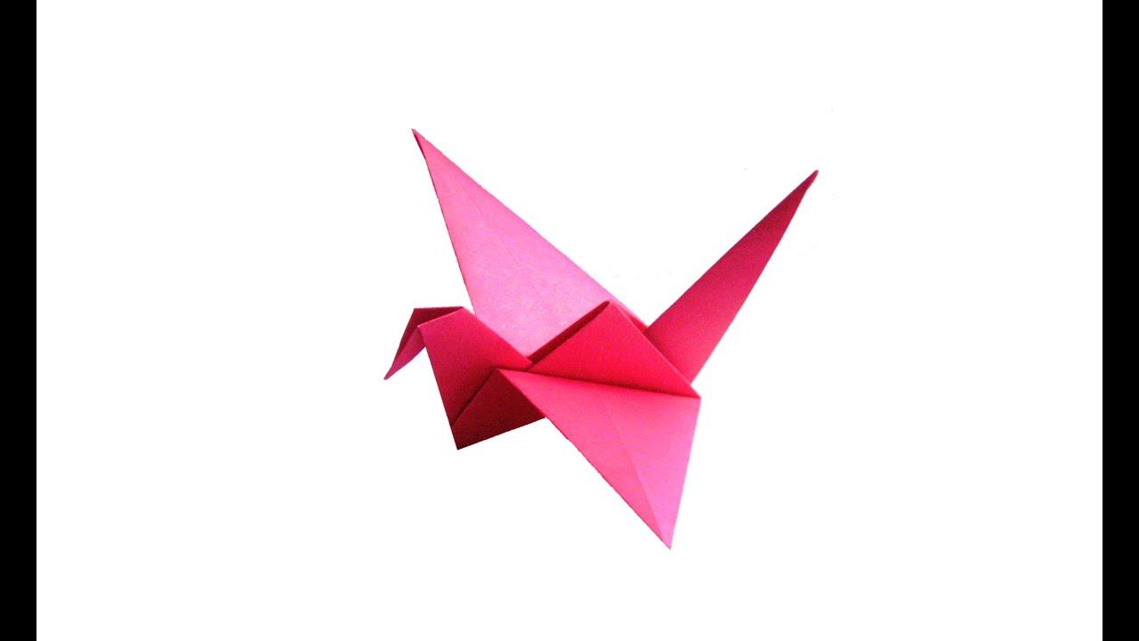 Журавль махающие крыльями оригами