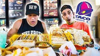 Eating the ENTIRE Taco Bell MENU (50,000 CALORIES) ft. SteveWillDoIt