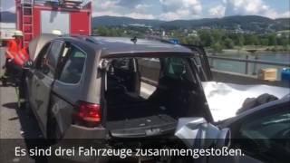 Unfall auf der A92 bei Deggendorf