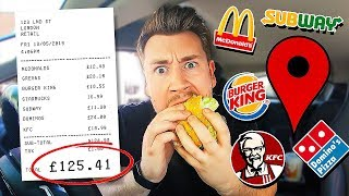 Letting Fast Food Employees Decide What I Eat For 24 Hours *FOOD CHALLENGE*