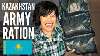 KAZAKHSTAN 24-hour ARMY RATION TASTE TEST | Kazakh MRE