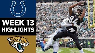 Colts vs. Jaguars   NFL Week 13 Game Highlights