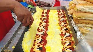 🍔🍔🍔 Street Food CHICKEN & BEEF Burger | Ramly Burgers (鸡肉汉堡, 牛肉汉堡)
