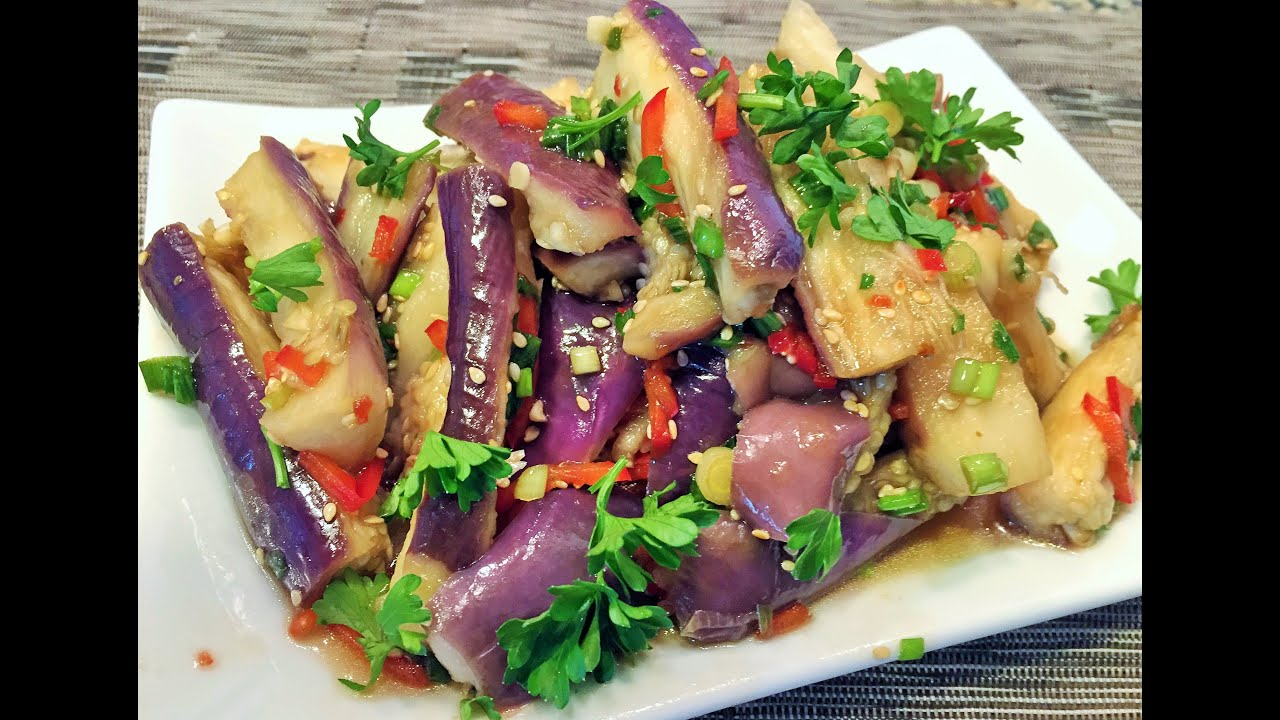 Острого корейского салата с баклажанами