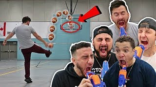 NERF RUSSIAN ROULETTE TRICK SHOT CHALLENGE!!
