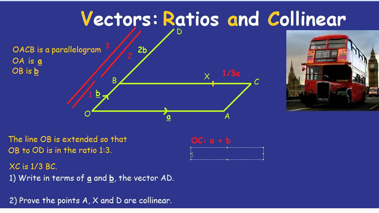 Proving lines are parallel or straight using vectors GCSE