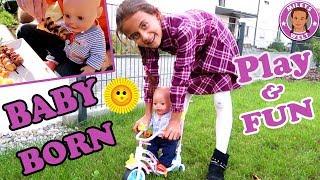 BABY BORN PLAY & FUN | GRILLPARTY UND MEGA SPAß auf dem Fahrrad | MILEYS WELT