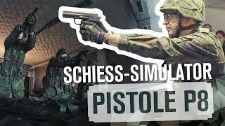 SCHIESS-SIMULATOR: Pistole P8 | TAG 45
