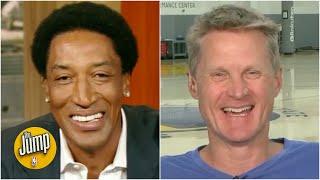 Steve Kerr reminisces with Scottie Pippen about their Bulls playoff runs   The Jump   ESPN