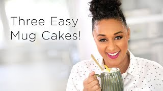 Tia Mowry's 3 Easy Microwave Mug Cake Recipes  | Quick Fix