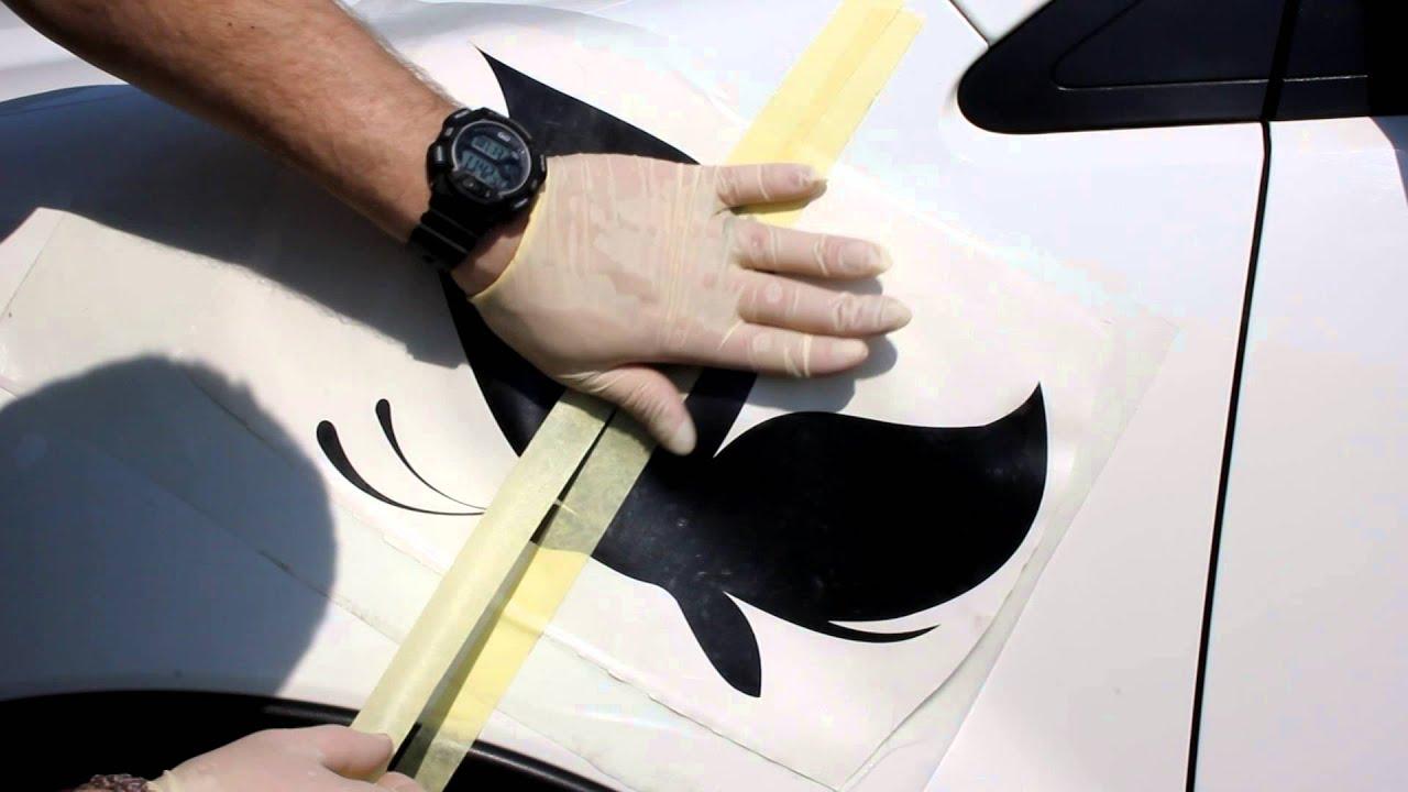 Как сделать наклейку на автомобиль своими руками