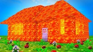 HAUS IN LAVA VERWANDELN TROLL - Minecraft School #16