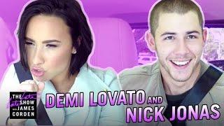 Demi Lovato & Nick Jonas Carpool Karaoke