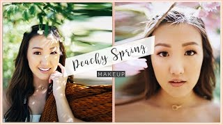Peachy Spring Makeup Tutorial // Eyelash Relaunch | ilikeweylie