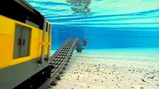 Lego train under water