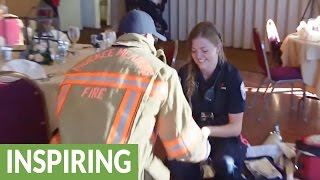 Paramedic called to scene receives surprise marriage proposal